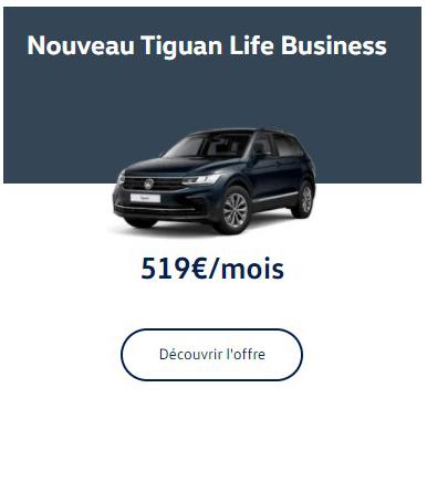 Nouveau Tiguan Life Business